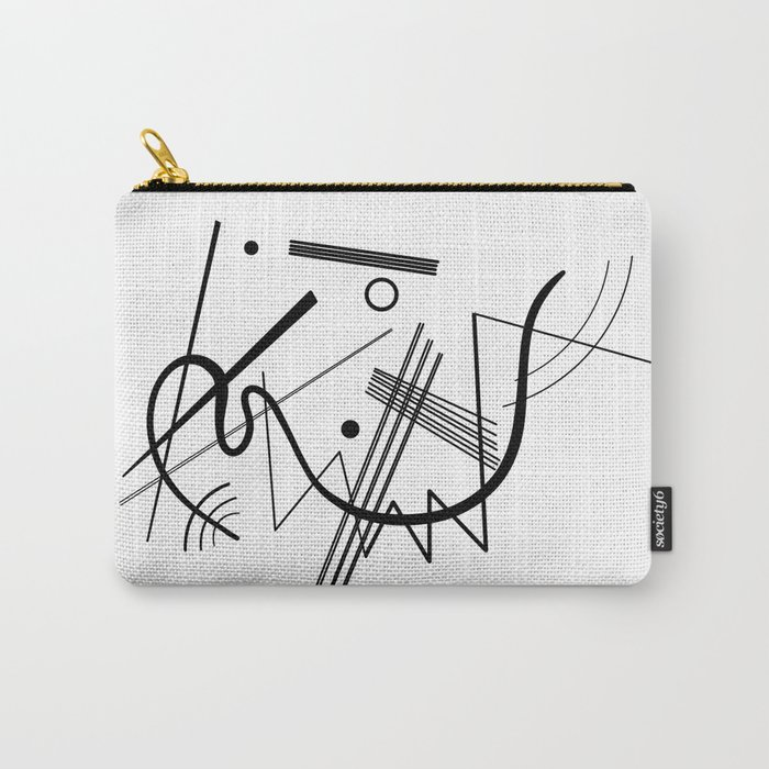Kandinsky - Black and White Abstract Art Carry-All Pouch