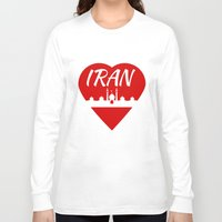 arab Long Sleeve T-shirts featuring Iran by mailboxdisco