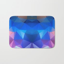 Abstract geometric polygonal pattern inih and pink tones . Bath Mat