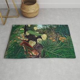 Henri Rousseau - Fight between a Tiger and a Buffalo Rug