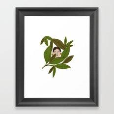 Portrait in the leaves Framed Art Print