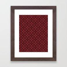 KaleidoRed Framed Art Print