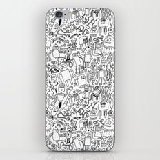 Infinity Robots Black & White iPhone & iPod Skin