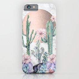 Desert Sun + Gemstones Bronze Marble iPhone Case