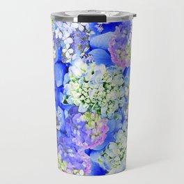 Billowing Blush in Blue Travel Mug