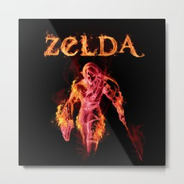 Zelda in Angry Mode Metal Print