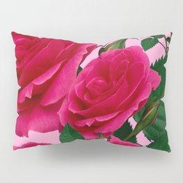 DECORATIVE RED GARDEN ROSES PINK ART Pillow Sham