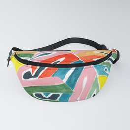 Monstera leaves acrylic Fanny Pack