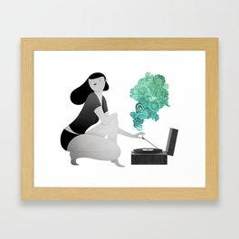Record Flower Framed Art Print