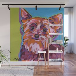 Maggie the Yorkie Wall Mural