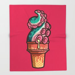 Swirly Tentacle Treat (gumdrop) Throw Blanket