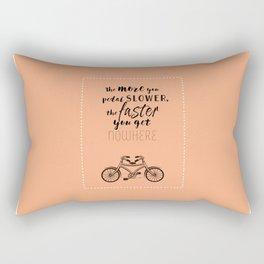 Nowhere. Fast.    (coral) Rectangular Pillow