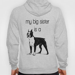 Boston Terrier Baby Clothes Dog Baby Clothes Dog and Baby Dog Pregnancy Reveal Big Sister Boston Big Hoody