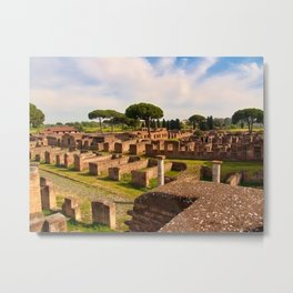 Ostia Antica, Rome, Italy. Metal Print