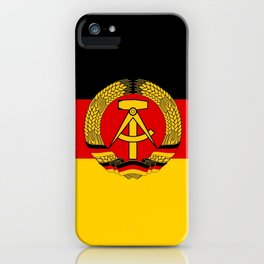 flag of RDA Or east Germany iPhone Case