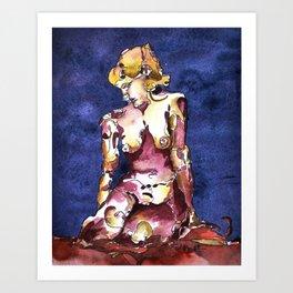 Female Nude; Violet Art Print