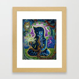Jaguar Shaman Woman Framed Art Print