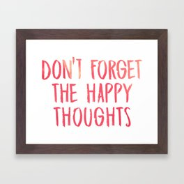 Chance the Rapper - Don't forget the happy thoughts Framed Art Print
