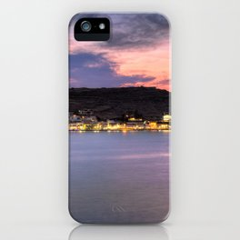 Korissia, which is a natural harbor welcomes you to the island of Kea, Greece iPhone Case