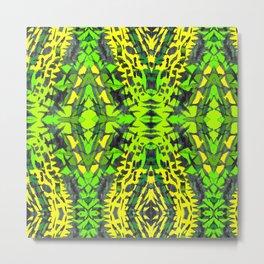 yello-green-gray pattern Metal Print