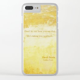 Golden Years Clear iPhone Case