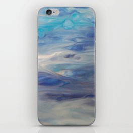 Ethereal Skies - Abstract Acrylic Art by Fluid Nature iPhone Skin