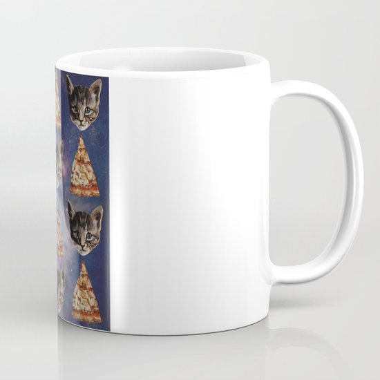 Kitten Pizza Galaxy  Mug