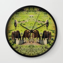 Life On An African Farm - Paintography Wall Clock