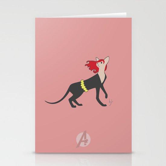 BlackCat Widow Stationery Cards