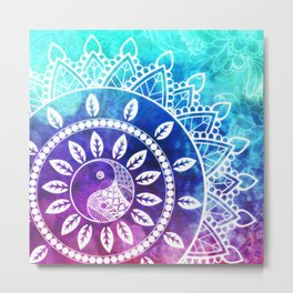 Divine Dream Pink Purple Blue Mandala Metal Print