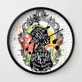 Anne Shirley - Tomorrow Wall Clock