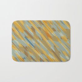 yellow blue and brown abstract background Bath Mat