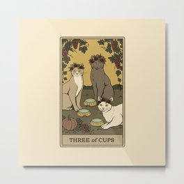 Three of Cups Metal Print