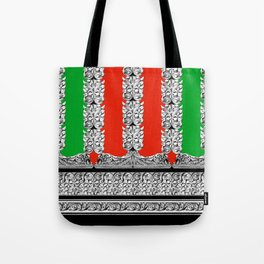 Holiday Stripe Frett Tote Bag