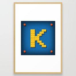 Letter K Initial Cap Framed Art Print