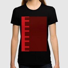 Red Piano Keys T-shirt