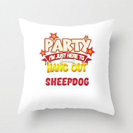 Sheepdog Party Throw Pillow