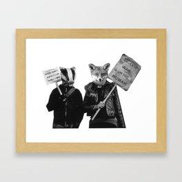 Ed Badger and Kate Fox (colour) Framed Art Print