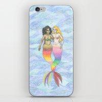 lesbian iPhone & iPod Skins featuring lesbian mermaids by ElenaM