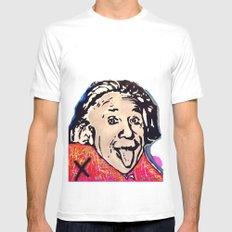 Einstein White MEDIUM Mens Fitted Tee