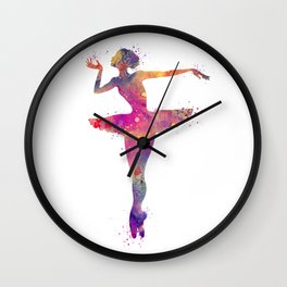 Ballerina Girl Releve Pose Wall Clock