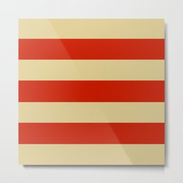 Tan and Orange Stripes Metal Print