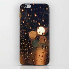 rain bokeh iPhone Skin