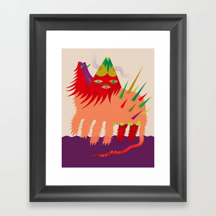 Anfibio Tarasco Framed Art Print