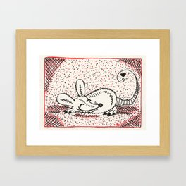 Sleepy Nom Framed Art Print