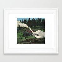 smoking Framed Art Prints featuring Smoking by odart