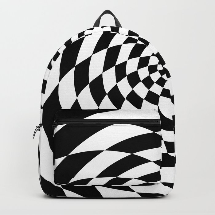 Optical Illusion Op Art Black and White Retro Style Backpack