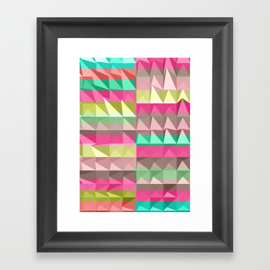 Pyramid Scheme Framed Art Print