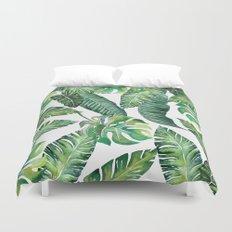 Jungle Leaves, Banana, Monstera #society6 Duvet Cover