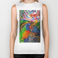 paradise Biker Tanks featuring Paradise by shannon's art space